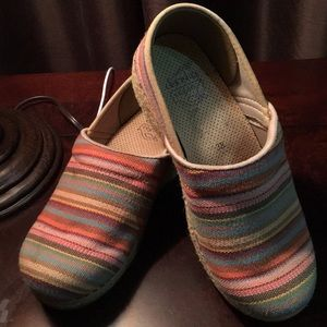 Dansko Women's Multi colored clogs